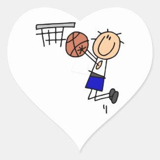 Figura fregadero T-shirs del baloncesto y regalos Pegatina De Corazon