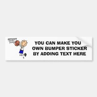 Figura fregadero T-shirs del baloncesto y regalos  Pegatina Para Auto