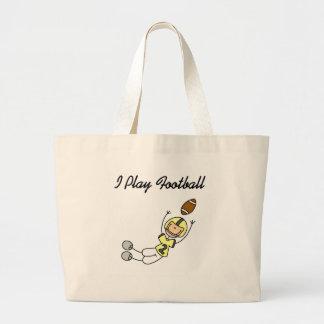 Figura fútbol del palillo - camisetas y regalos am bolsa tela grande