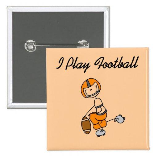Figura fútbol del palillo - camisetas y regalos pin cuadrada 5 cm
