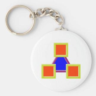 figura geométrica geometric shape llavero redondo tipo pin