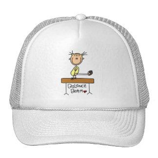 Figura gimnasta del palillo en los gorras del haz