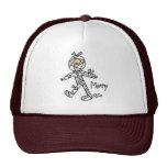 Figura gorra del palillo de la momia de Halloween