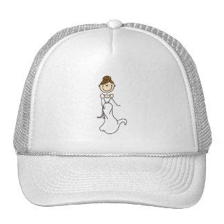 Figura gorra del palillo de la novia del Brunette
