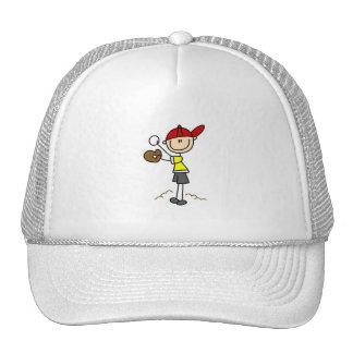 Figura gorra del palillo del béisbol