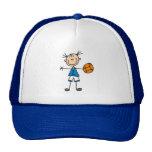 Figura gorra del palillo del chica del baloncesto