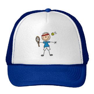 Figura gorra del palillo del tenis