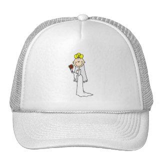 Figura gorra rubio del palillo de la novia