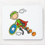 Figura héroe Mousepad del palillo Tapetes De Ratón