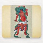 Figura hindú con halo verde detrás de su cabeza tapetes de ratón