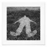 figura humana esquema impreso en hierba impresiones fotográficas