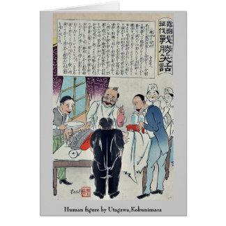 Figura humana por Utagawa, Kokunimasa Tarjeta Pequeña