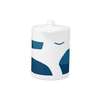 Figura icono del palillo del ataque del azul de la