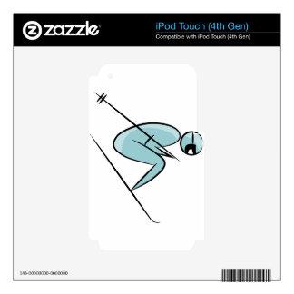 Figura icono del palillo del esquiador iPod touch 4G skin