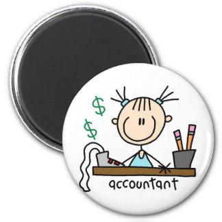 Figura imán del palillo del contable
