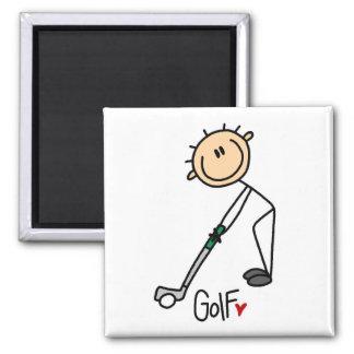 Figura imán del palillo del golf