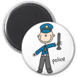 Figura imán del palillo del oficial de policía