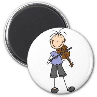 Figura imán del palillo del violín