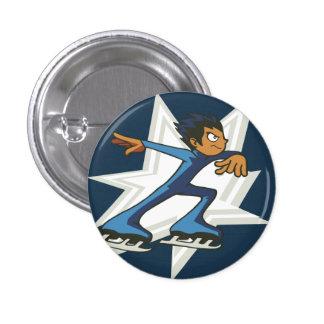 Figura instinto Pinback de los deportes de inviern Pin Redondo 2,5 Cm