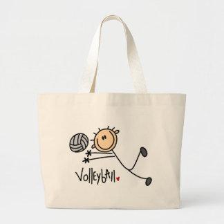 Figura la bolsa de asas del palillo del voleibol