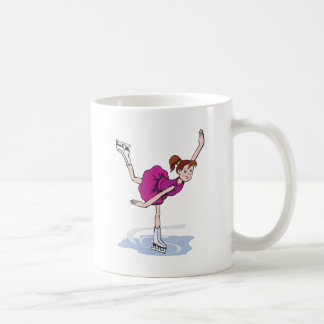 figura linda giro de la niña del patinador taza clásica
