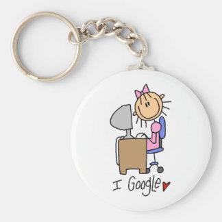 Figura llavero del palillo de Google