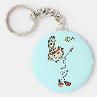 Figura llavero para hombre del palillo del tenis