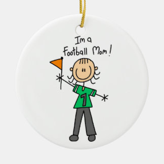 Figura mamá del palillo del fútbol ornamentos de reyes magos