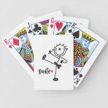 Figura masculina básica camisetas y regalos del pa baraja cartas de poker
