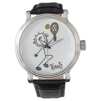 Figura masculina básica jugador de tenis del relojes de pulsera