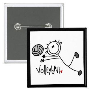 Figura masculina básica voleibol del palillo pin cuadrada 5 cm