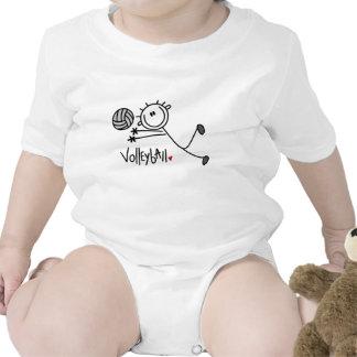 Figura masculina básica voleibol del palillo camiseta
