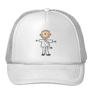 Figura masculina enfermera del palillo gorras