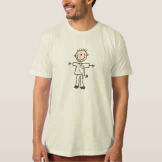 Figura masculina enfermera del palillo playeras