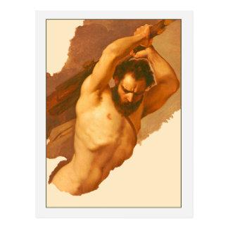 Figura masculina estudio de José Bezzuoli Postal