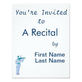 Figura masculina extracto blue.png del violinista invitaciones personalizada