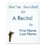 Figura masculina extracto brown.png del violinista invitación 10,8 x 13,9 cm