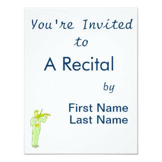 Figura masculina extracto green.png del violinista invitación personalizada
