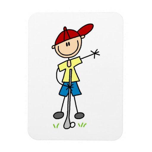 Figura masculina golfista del palillo iman de vinilo