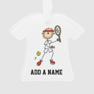 Figura masculina jugador de tenis del palillo