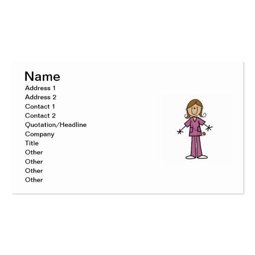 Figura media enfermera de sexo femenino del tarjetas de visita