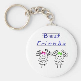 Figura mejores amigos del palillo llavero personalizado