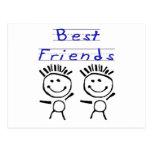 Figura mejores amigos del palillo postal