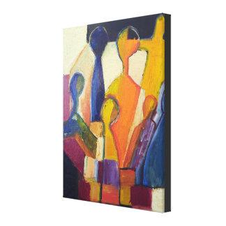 Figura moderna extracto del cubismo impresiones de lienzo