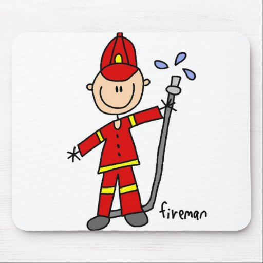 Figura Mousepad del palillo del bombero Alfombrillas De Ratón