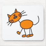 Figura Mousepad del palillo del gato Tapete De Raton