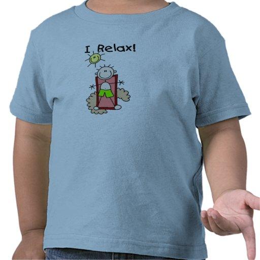 Figura muchacho del palillo que me relajo camiseta