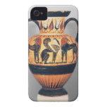 Figura negra amphora de Chalcidian que representa  iPhone 4 Case-Mate Cárcasa