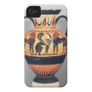 Figura negra amphora de Chalcidian que representa Case-Mate iPhone 4 Funda