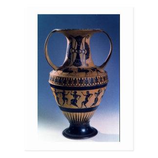 Figura negra amphora del ático que representa a tarjeta postal